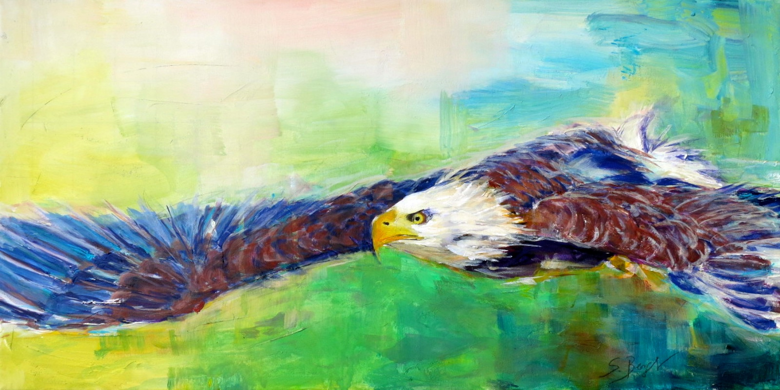 Adler auf Acryl